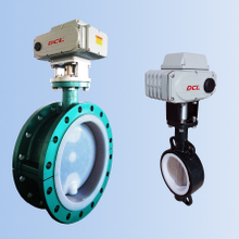 DCL Electric Linked Fluorine Ball Valve(Adjusting, cutting off, explosion-proof type optional)